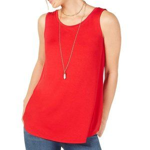 🌌2/$20 Style & Co Red Swing Fit Tunic Tank Top